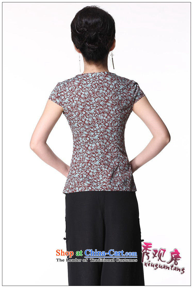 Sau Kwun Tong and a national women's wind/replace Ms. Tang Xia blouses/Chinese improved short-sleeved picture color聽pictures, prices, XL brand platters! The elections are supplied in the national character of distribution, so action, buy now enjoy more preferential! As soon as possible.