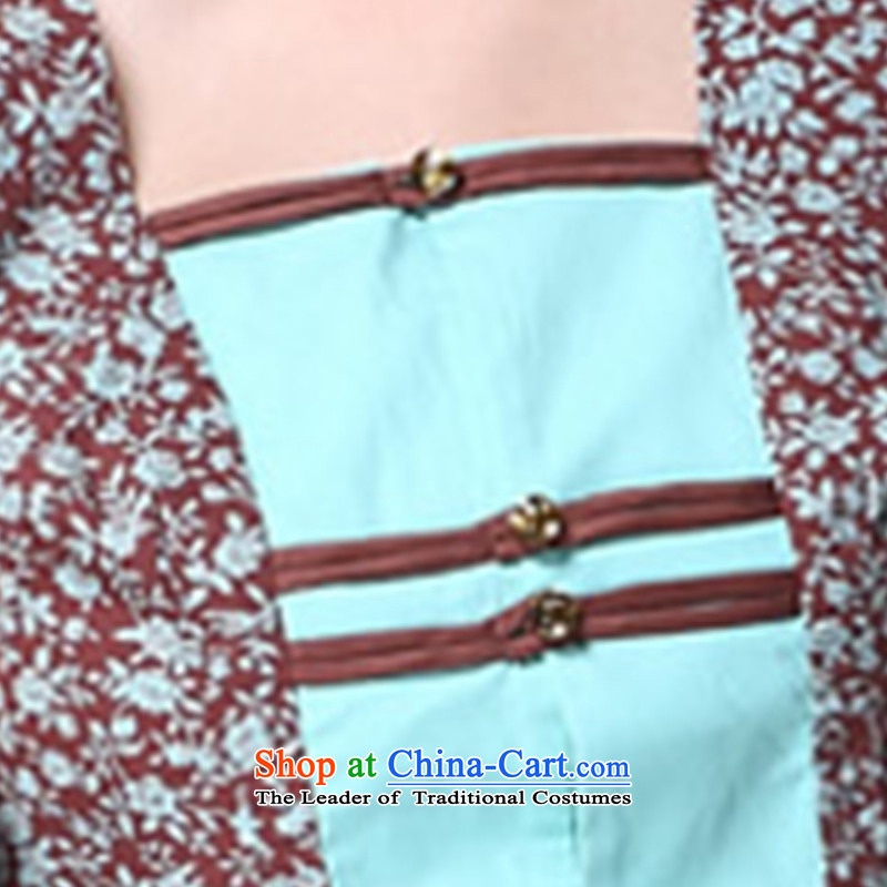 Sau Kwun Tong and a national women's wind/replace Ms. Tang Xia blouses/Chinese improved short-sleeved picture color聽XL, Sau Kwun Tong shopping on the Internet has been pressed.