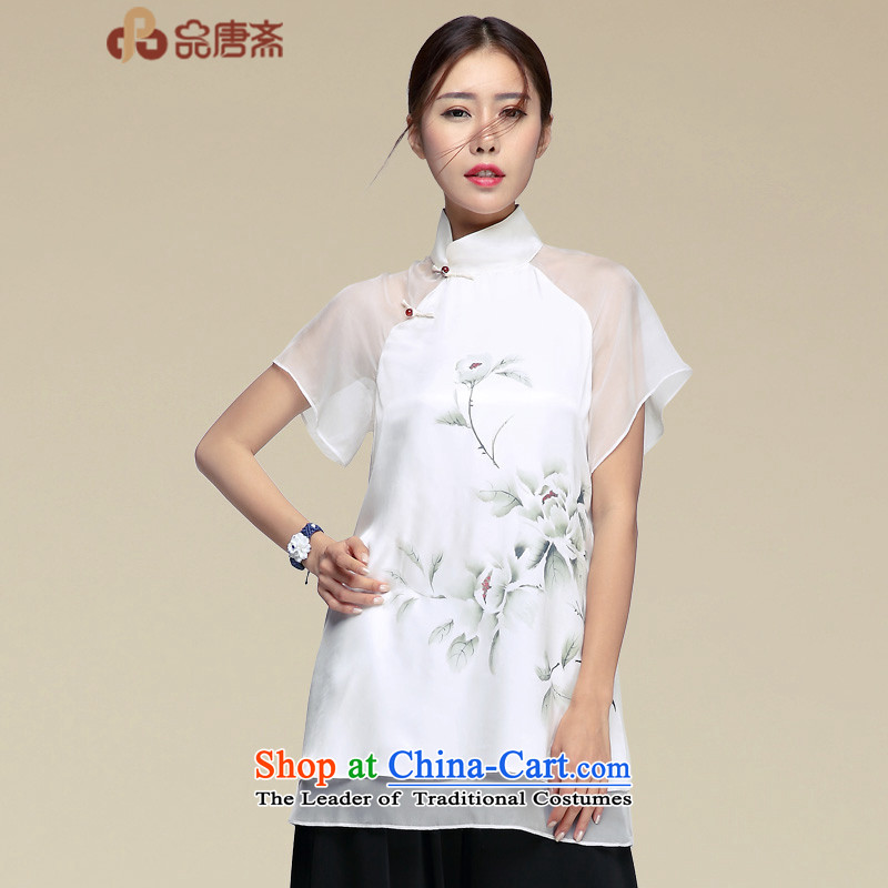 No. 2015, Tang Dynasty Ramadan Tang Summer China wind women improved Han-short-sleeved T-shirt color pictures qipao?XL