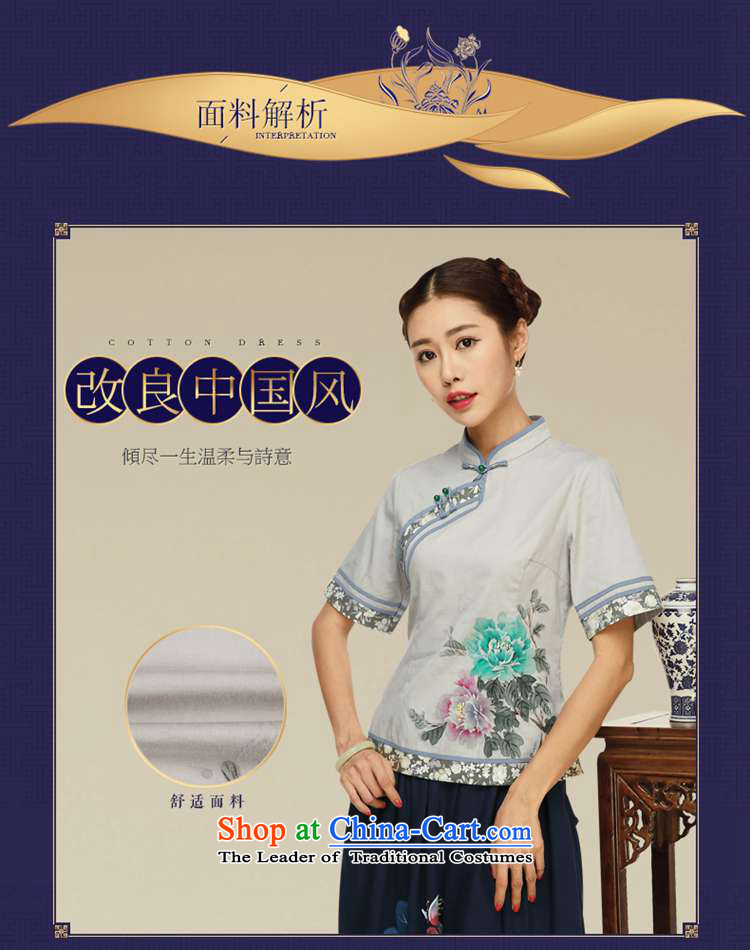 Tang Tang Dynasty Ramadan No. female summer retro China wind tea services improved Han-short-sleeved T-shirt color pictures qipao L picture, prices, brand platters! The elections are supplied in the national character of distribution, so action, buy now enjoy more preferential! As soon as possible.