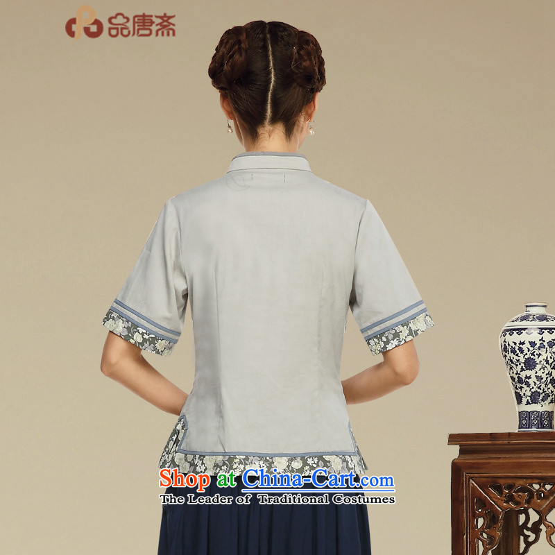 Tang Tang Dynasty Ramadan No. female summer retro China wind tea services improved Han-short-sleeved T-shirt color pictures , L qipao and Tang Ramadan , , , shopping on the Internet