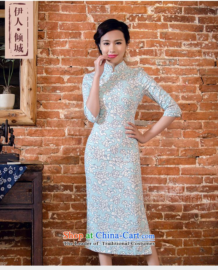 f0a1e280e17 Bong-migratory 7475 2015 Summer new linen dresses in long-sleeved retro  cotton linen