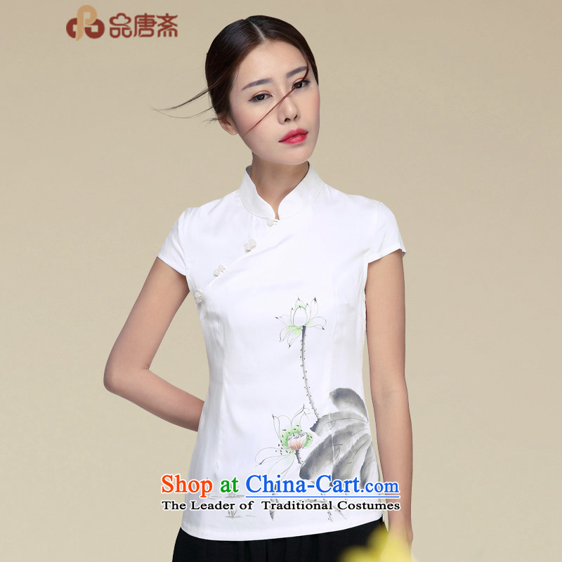 No. of Ramadan 2015 T-shirt qipao Tang Summer Tea Service Han-girl summer improvement of ethnic women Tang blouses picture color聽S