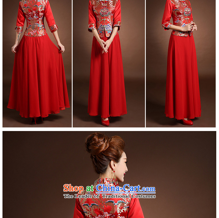 Pure Love bamboo yarn new wedding dresses qipao Chinese robe embroidered red bride use cheongsam dress qipao toasting champagne kit spring thick 2 piece bride flag red聽S picture, prices, brand platters! The elections are supplied in the national character of distribution, so action, buy now enjoy more preferential! As soon as possible.