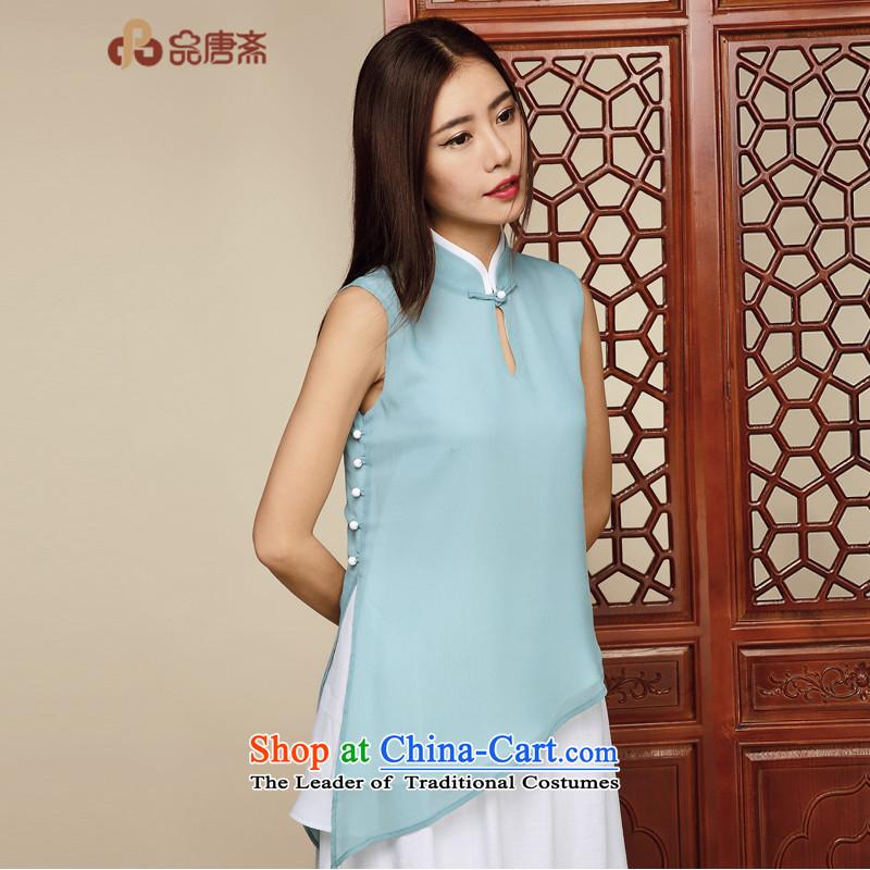 No. of Ramadan 2015 Summer Tang new chiffon shirt female Tang dynasty China Wind Jacket picture color?M Cheongsam