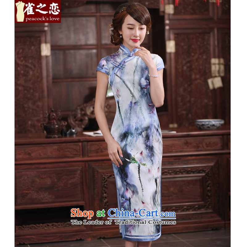 I should be grateful if you would have the birds Lian Lian? 2015 new products for summer qipao herbs extract daily long cheongsam dress?QD764?figure?L
