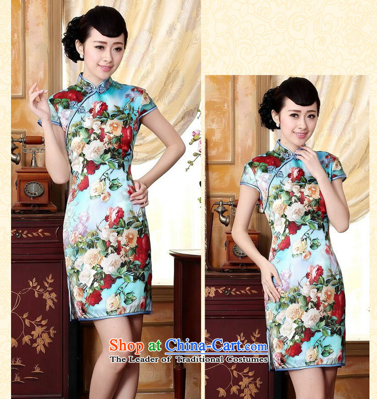 Floral heavyweight Ms. Silk Cheongsam retro improved Mock-neck herbs extract poster stretch of Sau San double short cheongsam floral聽2XL Photo, prices, brand platters! The elections are supplied in the national character of distribution, so action, buy now enjoy more preferential! As soon as possible.