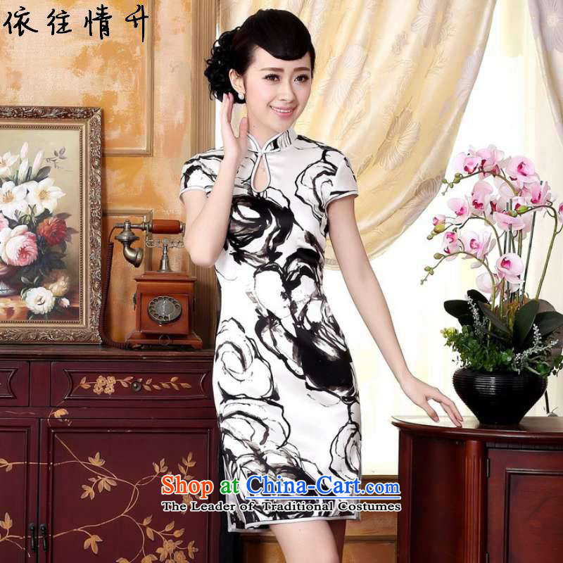 In accordance with the love in a trendy new for women retro improved Tang dynasty qipao gown dripping from the collar poster Tang dynasty, Sau San short cheongsam dress?Lgd/z0019?figure?M