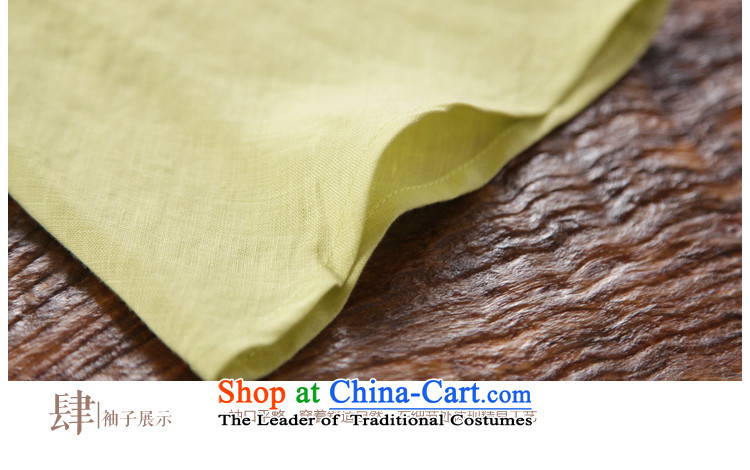 The new summer 2015 ink hand-painted linen Improvement Package [as soon as possible and perpetuates the lily long-sleeved yellow聽XXL picture, prices, brand platters! The elections are supplied in the national character of distribution, so action, buy now enjoy more preferential! As soon as possible.
