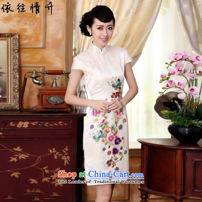 In accordance with the Love l summer trendy new for women of nostalgia for the improvement of Chinese collar is pressed to Sau San Tong short-sleeved qipao skirt?LGD/Z0024# REPLACE?figure?S