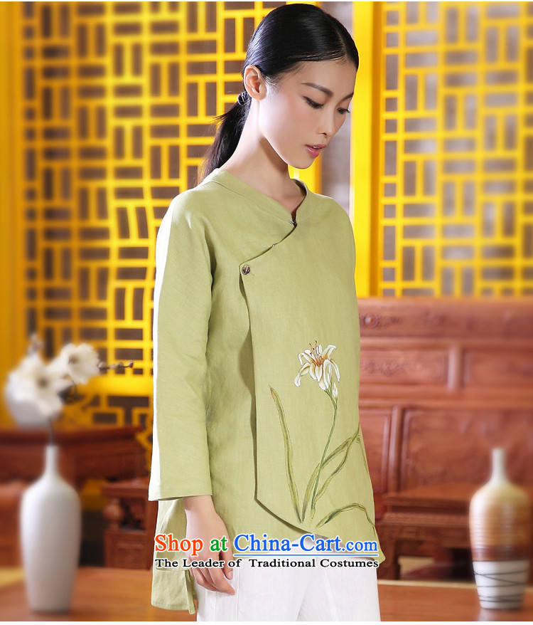 Ink Install autumn 2014 cotton linen original Tang dynasty women improved Han-girl ethnic costumes of nostalgia for the hand-painted Xuan spend light green聽L picture, prices, brand platters! The elections are supplied in the national character of distribution, so action, buy now enjoy more preferential! As soon as possible.