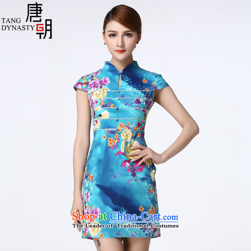 The Tang dynasty�15 Summer New China wind improved cheongsam dress suit Chinese female TXF42019A watermark Gardenia燬