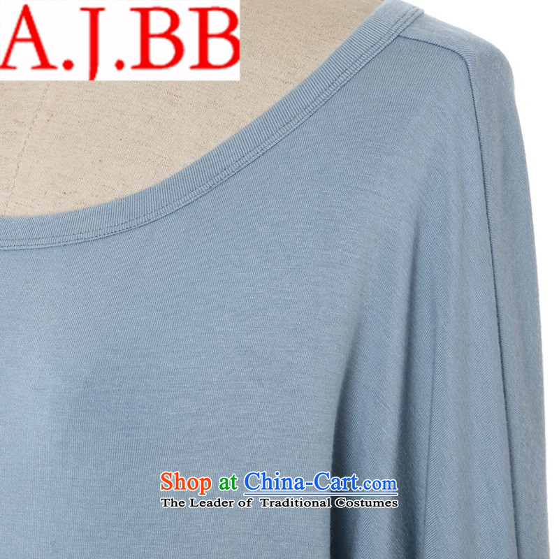 Vpro Spring 2015 stores only new Western liberal women's large long-sleeved T-shirt, long-t-shirt, female bat sleeves wear shirts light gray M,A.J.BB,,, shopping on the Internet
