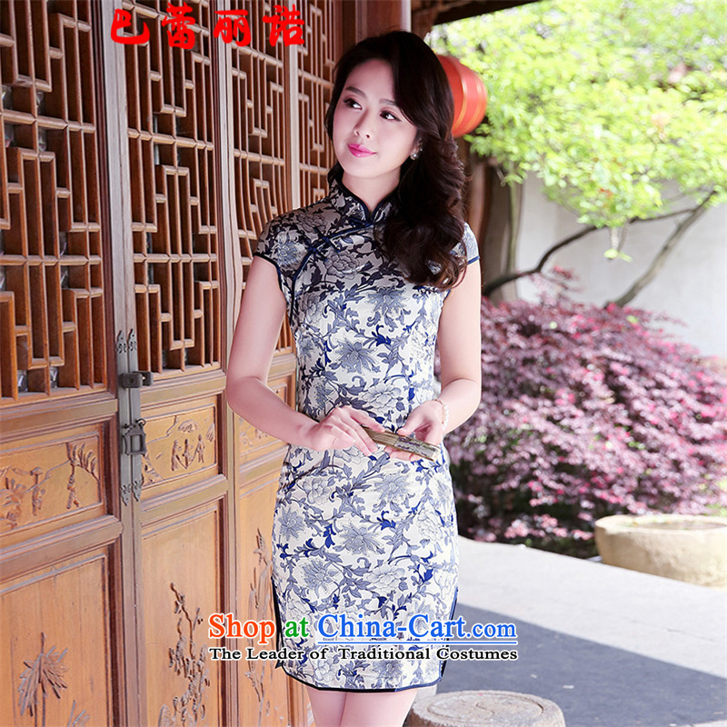 The buds of 2015 Summer Lai new retro side of the forklift truck new cheongsam stamp improved qipao porcelain燬