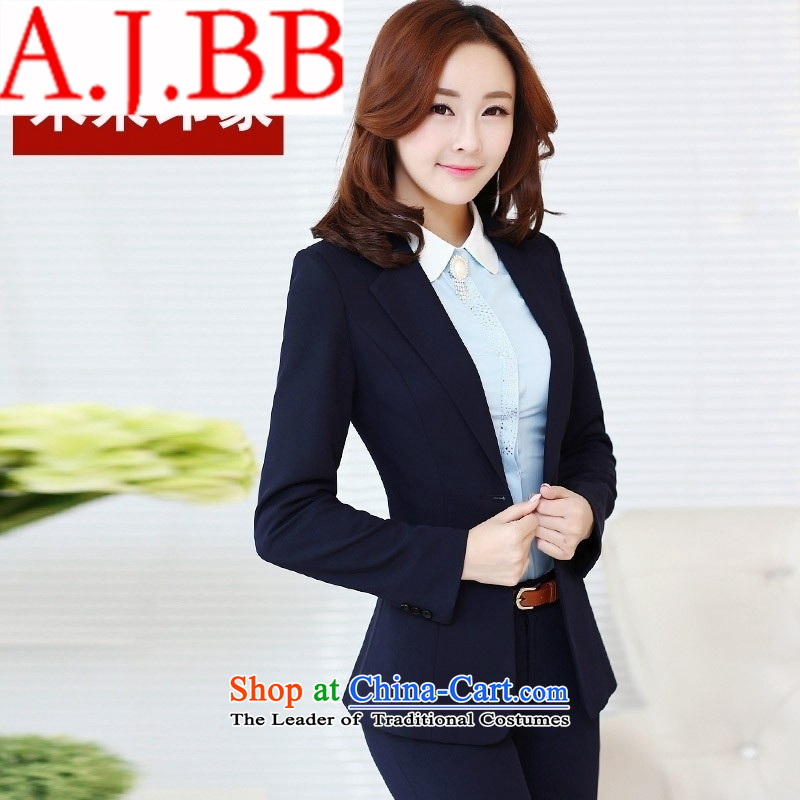 Vpro spring and summer 2015 stores only new women's vocational kits are being ladies pants vocational kits Korean female black suit + pants?XXL