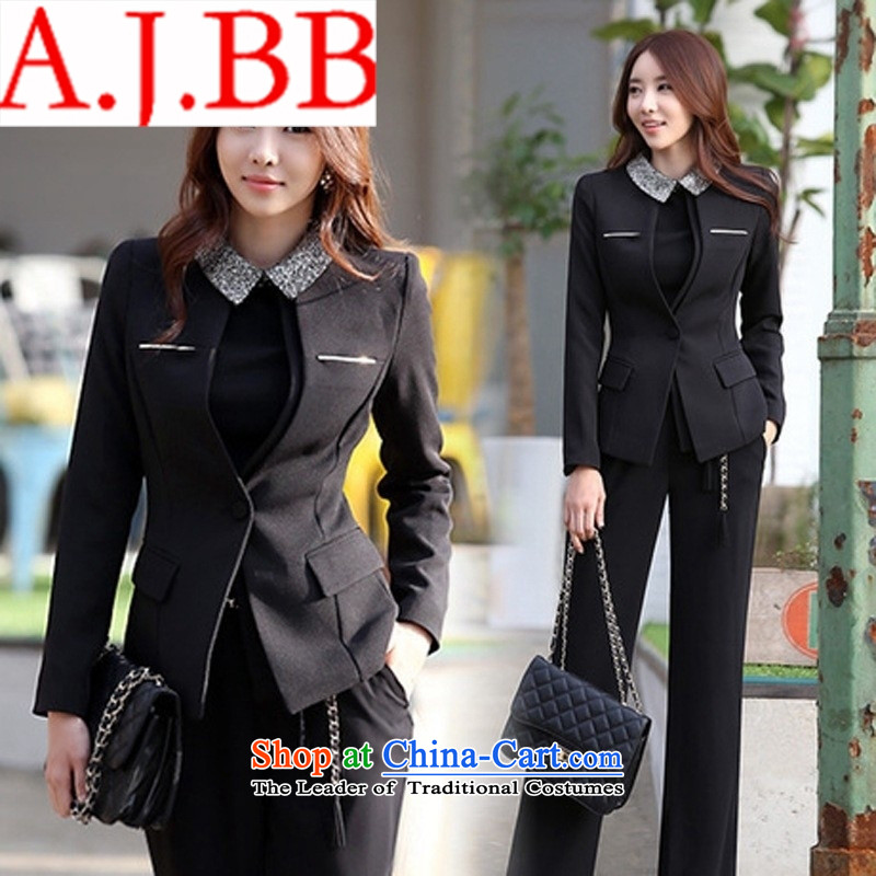 Only the shop in spring and autumn vpro Korean Ms. vocational kit trousers clothing suit small packaged OL black suit pants?5XL +