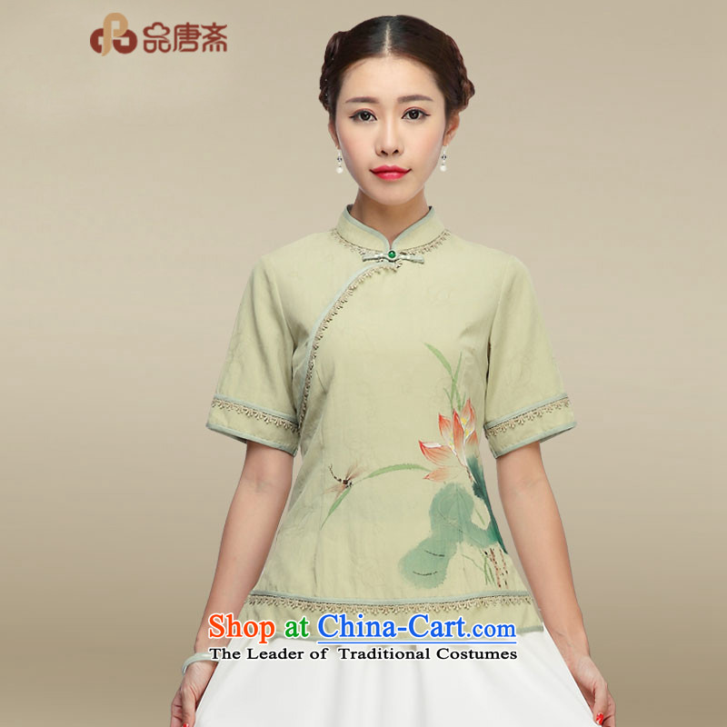 No. of Ramadan cotton linen qipao Tang shirt of the Republic of Korea wind short-sleeved improved Han-Tang dynasty picture color S