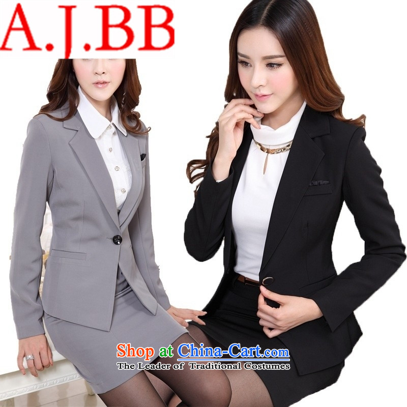 Only shop long-sleeved career vpro kit skirt sale vocational ladies pants kit white collar suit moderator black jacket + pants uniform shirt +燣