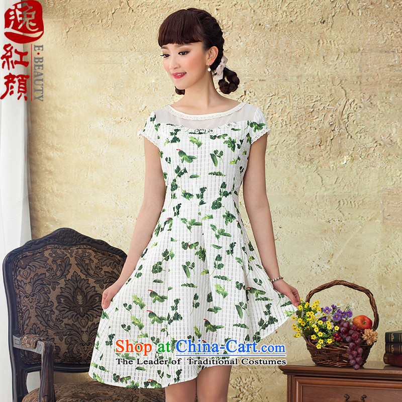 A Pinwheel Without Wind spirit summer escape the chiffon dress for summer 2015 new products asymmetric petticoats saika dresses green?L