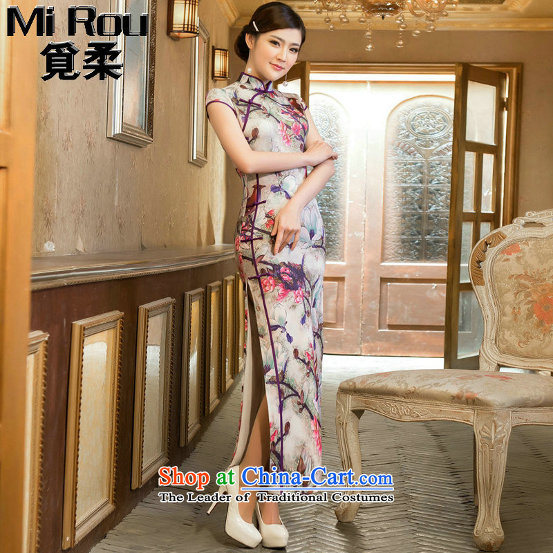 Find Sophie cheongsam dress long retro cheongsam elegant TULIP   improved cheongsam dress collar LONG WEN LING  M