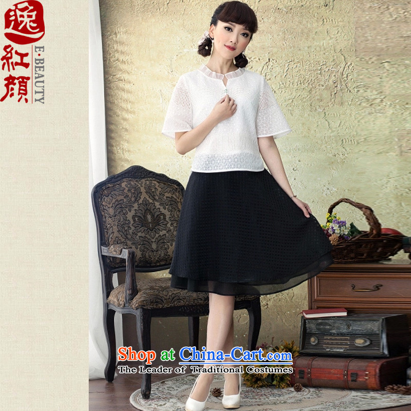 A Pinwheel Without Wind-Fang Yi Chau 4 cuff qipao shirt autumn 2015 new retro Sau San video thin blouses White M Tang