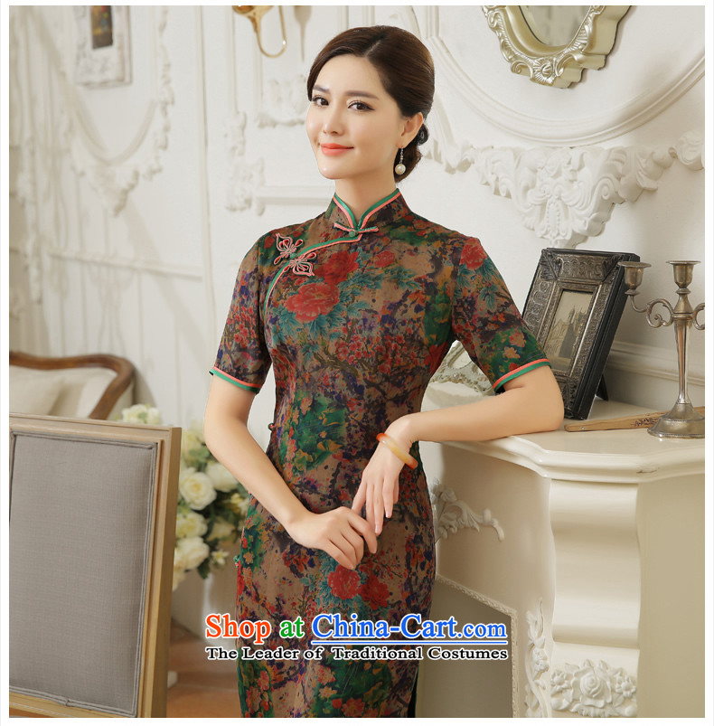 [Sau Kwun Tong] Chih-mei 2015 Summer new high-end silk herbs extract long dresses qipao QD5604 SUIT XL Photo, prices, brand platters! The elections are supplied in the national character of distribution, so action, buy now enjoy more preferential! As soon as possible.