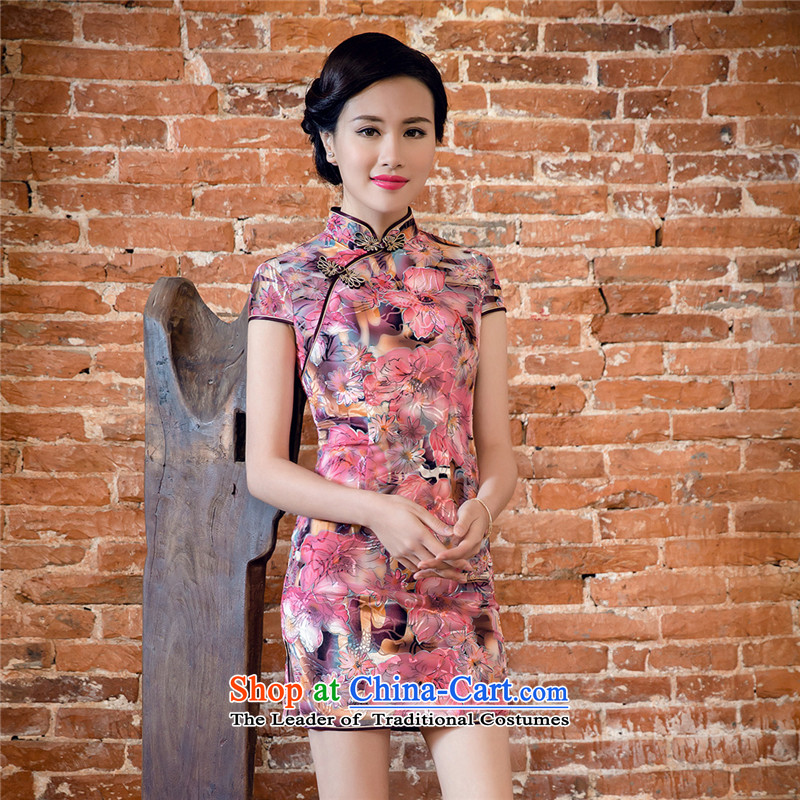 The skirt qipao gown燡T5082 China wind爄n red燲L