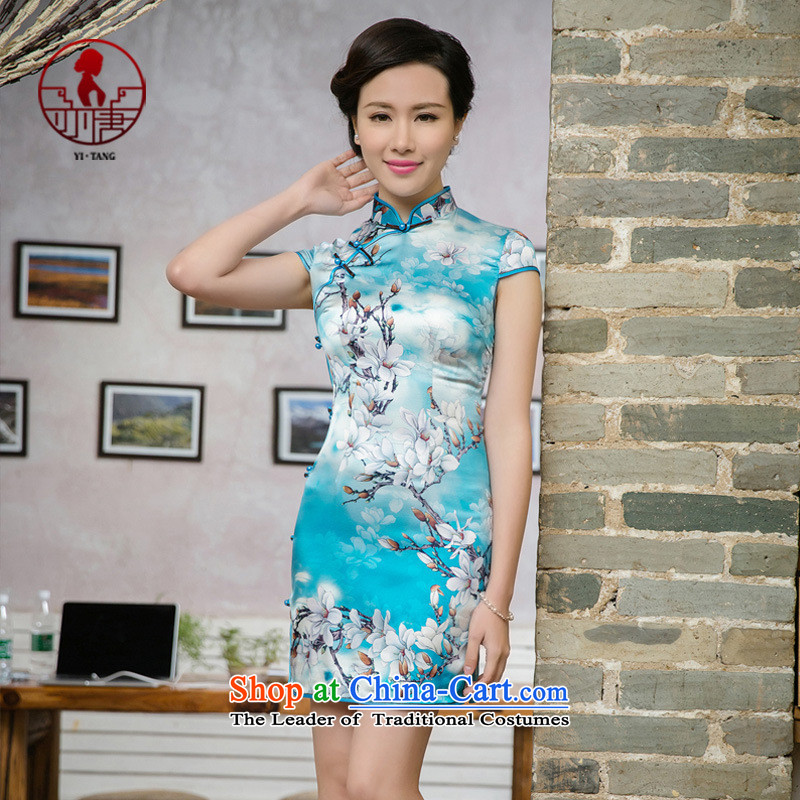 The skirt qipao gown JT5095 China wind map color燲XL