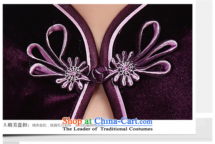 Sau Kwun Tang Hoi-pole star manually staple bead scouring pads qipao/improvements in mother spring long evening dresses G78228 wine red short-sleeved聽S picture, prices, brand platters! The elections are supplied in the national character of distribution, so action, buy now enjoy more preferential! As soon as possible.