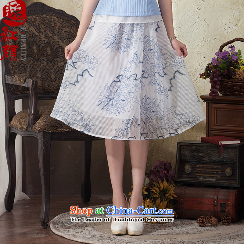 A Pinwheel Without Wind were stylish Yat cheongsam dress the new summer arts fresh small body long skirt ethnic elegant long skirt Po Lam Tei?S