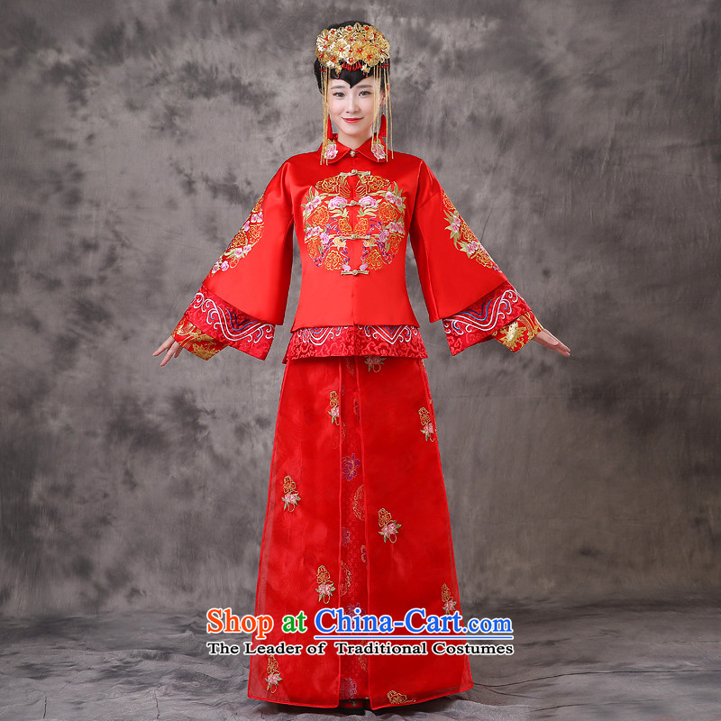 The Royal Advisory Groups to show love of nostalgia for the Chinese classics serving Southern bride dress marriage services red dragon qipao bows should start with the wedding dress Bong-sam Hui-hsia palace-soo wo XS previous Popes are placed of brassiere