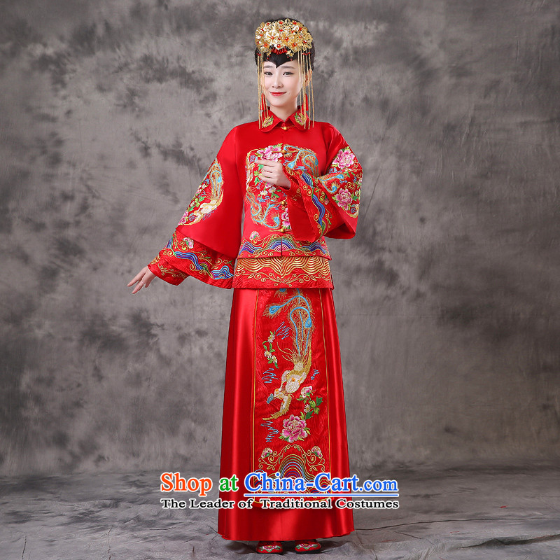 The Royal Advisory Soo-wo service friendly new Chinese Dress bride with ancient bows services-hi-dragon use Chinese wedding dresses Bong-Koon-hsia pregnant women can penetrate embroidered previous Popes are placed Bong-A?S Breast 94