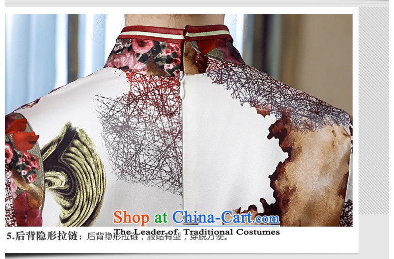 [Sau Kwun Tong]-Yuk Ling 2015 Summer New Silk retro stamp herbs extract long dress suit XXXL QD5618 qipao picture, prices, brand platters! The elections are supplied in the national character of distribution, so action, buy now enjoy more preferential! As soon as possible.
