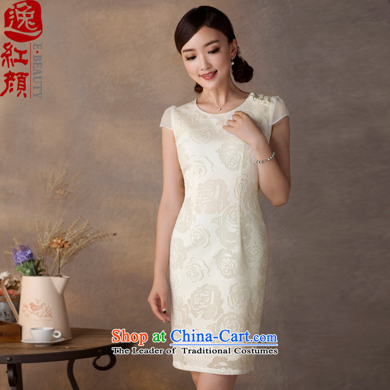 A Pinwheel Without Wind-Ju-il foil composite lace dresses 2015 Summer stylish ethnic Sau San retro dresses white S