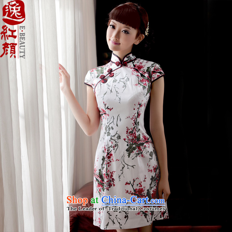 A Pinwheel Without Wind immersed Yat Maehyang-cotton qipao spring and summer 2015 skirt with improved stylish Sau San cotton linen cheongsam dress immersed Maehyang- L