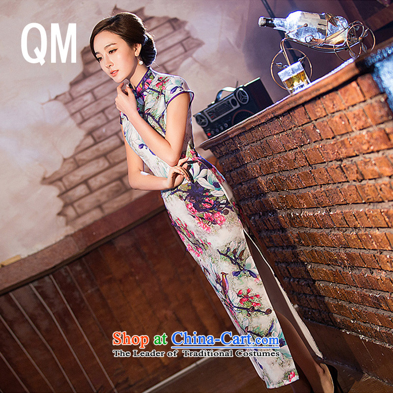 At the end of light retro silk Sau San banquet dresses qipao聽WMBQ220聽picture color聽XXL