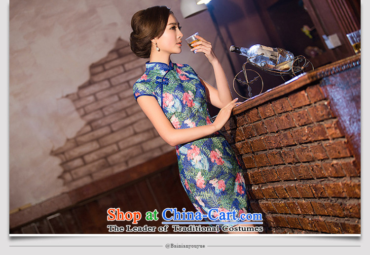 At the end of light floral lace ethnicWMBQ204 cheongsam dressphoto colorpictures, prices, XL brand platters! The elections are supplied in the national character of distribution, so action, buy now enjoy more preferential! As soon as possible.