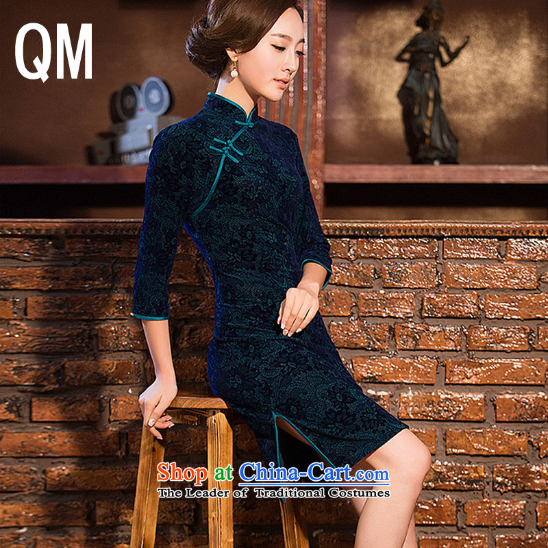 The end of the culture and arts female short light, the skirt of 7?color photo of Qipao WMBQ098 cuff?XL