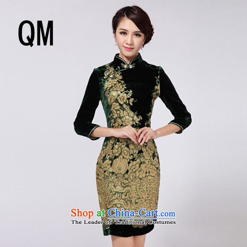 At the end of light skirt short of retro qipao qipao?RXA808?short-sleeved?M