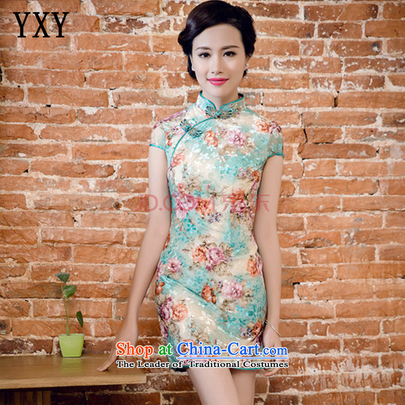 The Cloud's stakeholders Korea scouring pads in the poster printing manual tray clip improved cheongsam dress?JT5082?RED?XXL