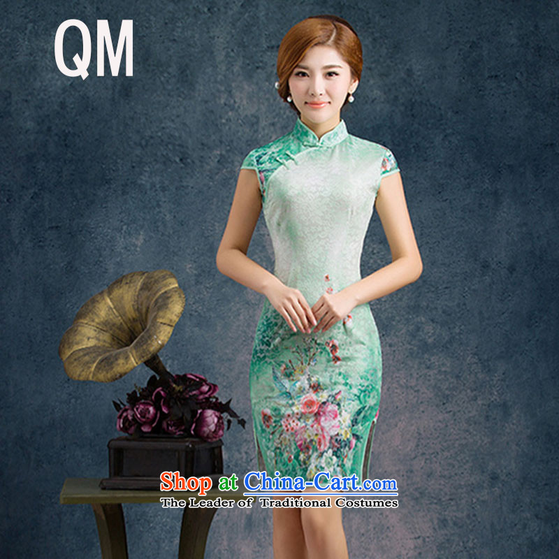 The end of the shallow lace improved day-to-day summer qipao Sau San stylish China wind short-sleeved dresses燩YMXYG019爌icture color燲L