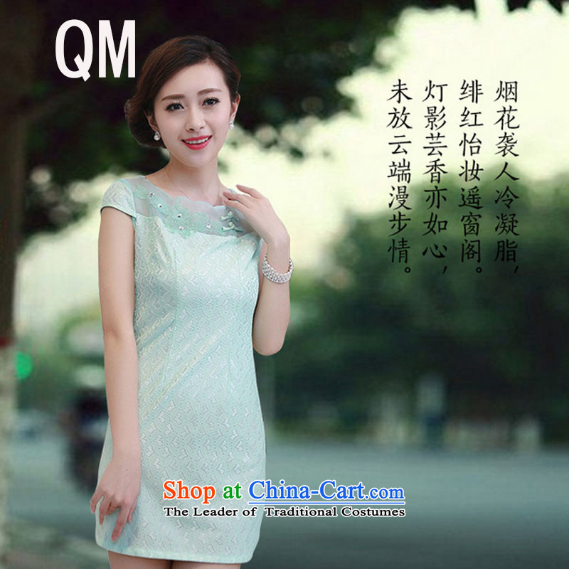 At the end of light female lace qipao summer daily fashion improved national China wind elegant beauty dresses燩YMXYG093爌icture color燲L