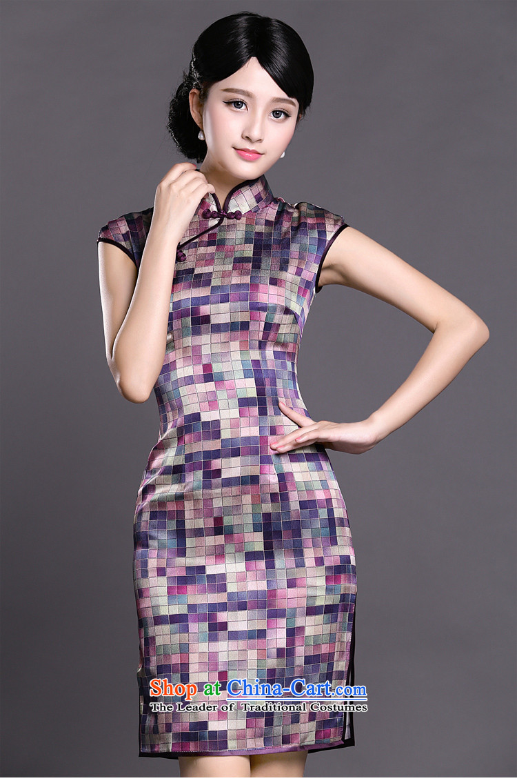 Joe was aristocratic silk cheongsam dress summer improved temperament China wind ZS021 PURPLE聽XXXL picture, prices, brand platters! The elections are supplied in the national character of distribution, so action, buy now enjoy more preferential! As soon as possible.