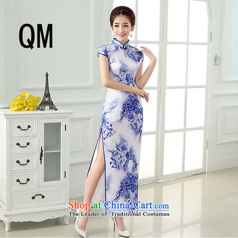 At the end of the summer of light and stylish daily Sau San Tsing improved porcelain welcome service long cheongsam dress dresses燩YMXYG150爌icture color燬