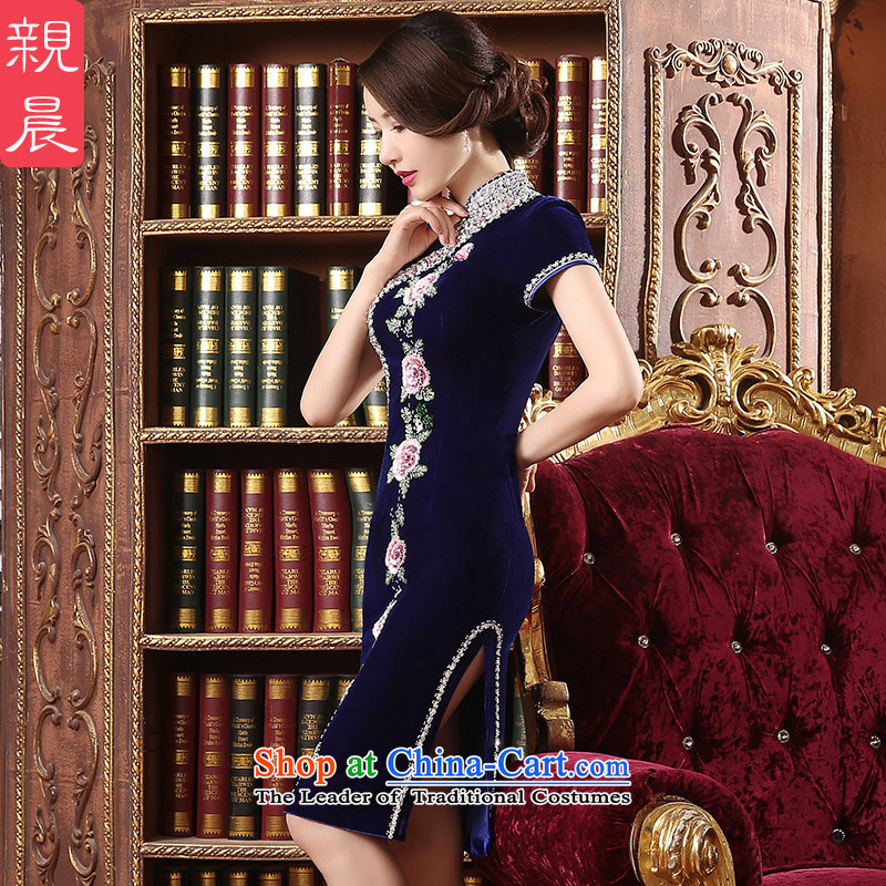 Wedding wedding dress qipao skirt Kim scouring pads installed MOM dresses in long large 2015 new) Cuff wine red聽2XL, pro-am , , , shopping on the Internet