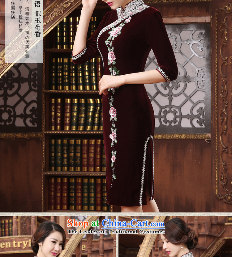 The wedding-dress Kim long skirt qipao scouring pads) Older Mother New wedding in summer and autumn large dresses short-sleeved聽M picture, prices, brand platters! The elections are supplied in the national character of distribution, so action, buy now enjoy more preferential! As soon as possible.