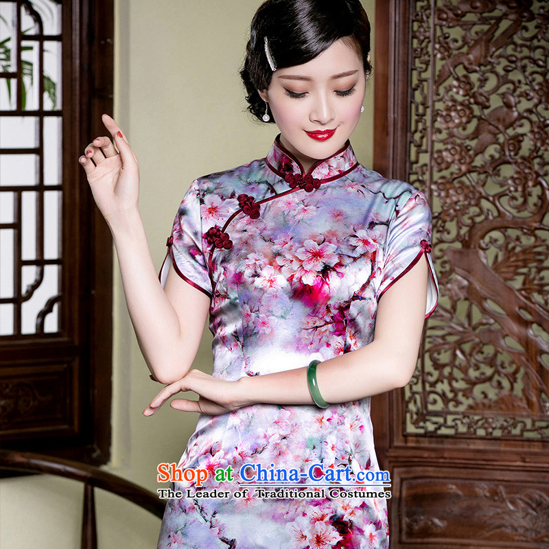 The seal of a new summer, Heavyweight Silk Cheongsam herbs extract improved daily Ms. traditional stylish dresses picture color�L