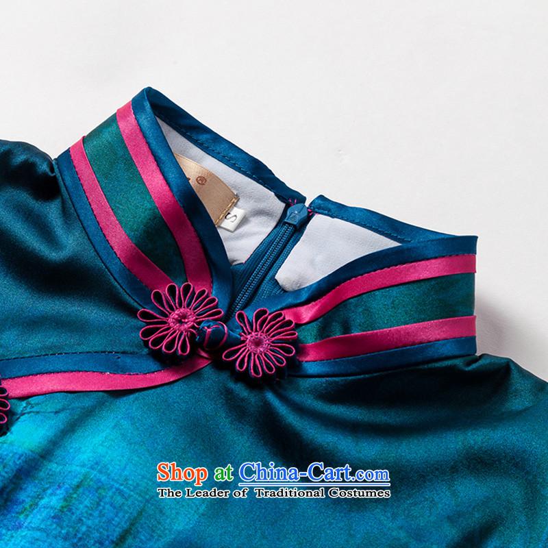 The seal of a new summer, Heavyweight Silk Cheongsam elegant retro improved short, banquet dress cheongsam dress photo color聽XL, seal decreased by , , , shopping on the Internet
