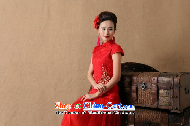 The new 2015 topology magic marriages gift qipao skirt red long bows and stylish evening dresses red聽XL Photo, prices, brand platters! The elections are supplied in the national character of distribution, so action, buy now enjoy more preferential! As soon as possible.