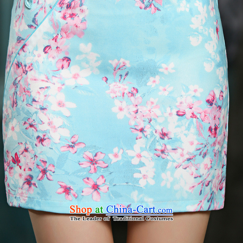 The leading edge of the YI I 2015 new summer video thin cheongsam dress circle style improvement Sau San embroidery cheongsam 9022聽XL, Yi edge of pink i , , , shopping on the Internet